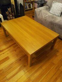 Oak coloured Ikea coffee table