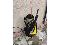 Nike tour staff bag, umbrella, towel and alignment sticks