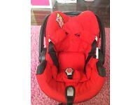 Stokke be safe iZi go car seat in red