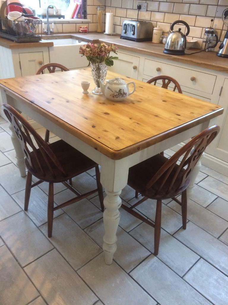 Pine Kitchen Table And Chairs Beautiful Farmhouse Pine Dining Table And 4 Ercol Chairs In