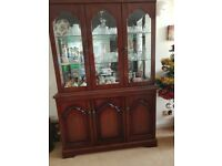 mahogany display cabinet