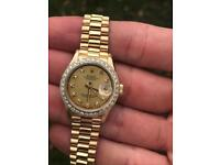 Ladies Rolex Datejust 69178 18k gold factory diamond dial