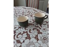 Matching milk jug and sugar bowl in sage green