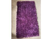 Ex Dunelm purple rug
