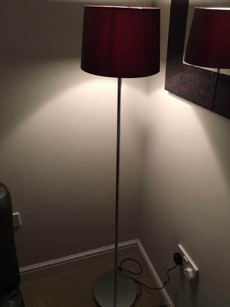 Aubergine coloured floor lamp reduced in chiddingfold surrey aubergine coloured floor lamp reduced geotapseo Choice Image
