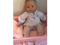 Baby doll with Chinese features