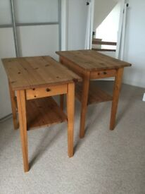 2 Matching Pine Side Tables