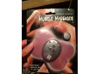 Electronic muscle massager