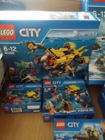 Lego submarine set. Includes 1 x 60092, 1 x 60091 and 1 x 60090 RRP £55