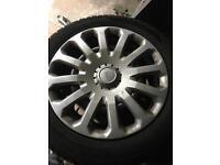 Set of four winter wheels Ford Fiesta 195/55r15