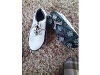 White Footjoy Golf Shoes