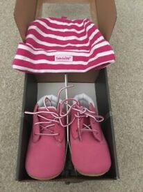 Brand new Timberland boot and hat set
