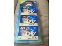 Jvc digital video cassette pack of3