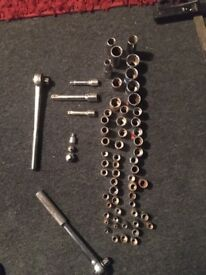 Large Ratchets and sockets 60 odd pieces