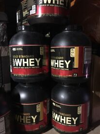 New Optimum Nutrition Gold Standard WHEY Protein 100% 5LB 2.27KG. Long BBE All Flavours+ free gift
