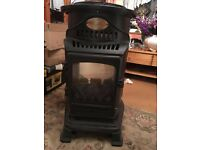 Black Portable Provence gas heater