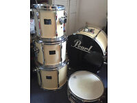 Pearl Export 5 piece kit, Protection Racket cases, full hardware, double pedal and cymbals