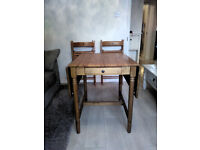 Folding dining table and four chairs compact family dining