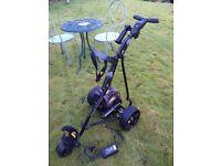 powakaddy freeway electric golf trolley cart