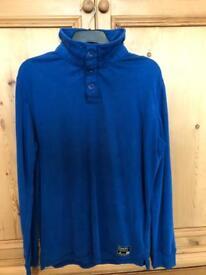 Men's Superdry Jumper - Blue - Size XL