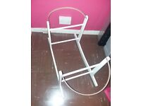 Deluxe White Moses Basket Rocking Stand by Clair de