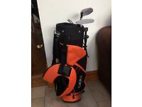 Junior Williams golf bag and clubs