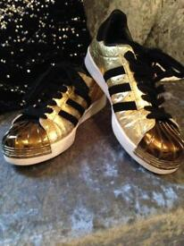 Adidas gold trainers