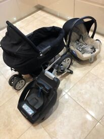 Pram, stroller, car seat, easy fix base