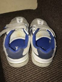 Blue and White TU Trainers