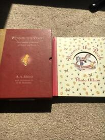 Winnie the Pooh hardback book with stories and poems and also have a Winnie the Pooh photo album