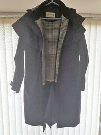 Long purple Tayberry Coat size med