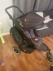 Phil and Ted's dot double pushchair