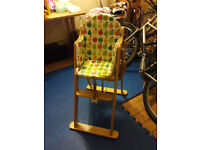 Mothercare Valencia Wooden Highchair - Natural, used, foldable