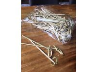 Looped Bamboo Skewers for Sandwiches, Cocktails, Wraps, Canapes etc.