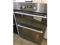 Hotpoint stainless steel fully built in double door integrated oven fan assisted
