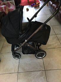 Babystyle oyster pushchair with carrycot