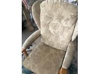 Sturdy Floral armchair
