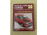 Vauxhall/Opel Corsa Oct 2000 to Sept 2003 (X reg onwards) Manual