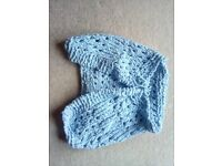 Blue chenille baby wrap for 12 to 18 month baby