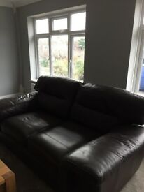 2 x brown leather M&S sofa's for sale. Excellent condition.