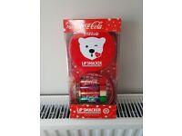 Coca cola lip balms gift set NEW