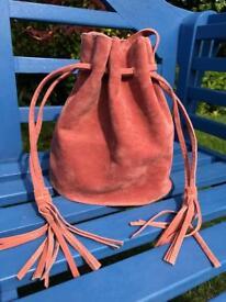 Dusky pink bucket handbag