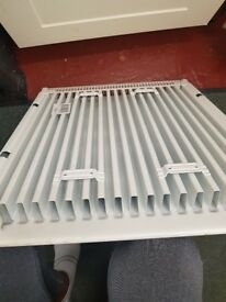 small radiator single with fitting and brackets