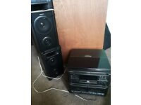 Sharp cd music system , tape and deck , Brynmawr