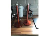 Kitchen roll holder and mug tree holder