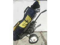 4 irons 2 drivers & putter. Bag & trolley