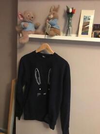 Navy rabbit jumper