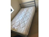 Small double bed and matress for sale
