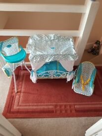 Silver cross baby doll set amazing condition pet and smoke free home