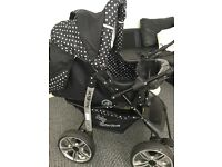 Pokadot pram pushchair stroller with carry-cot £40
